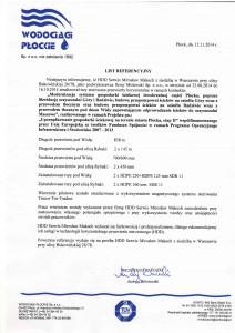 List referencyjny Płock