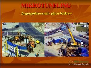 Mikrotuneling, przykładowa organizacja placu budowy.