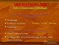 Zakres stosowania technologii mikrotunelowych.