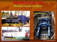 Budowa zespołu urządzeń do mikrotunelingu.