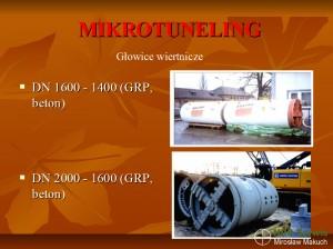 Głowice wiertnicze do mikrotunelingu.