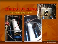 Mikrotuneling, proces instalacji rury.