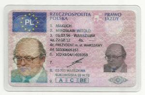 Prawo jazdy Mirosław Makuch